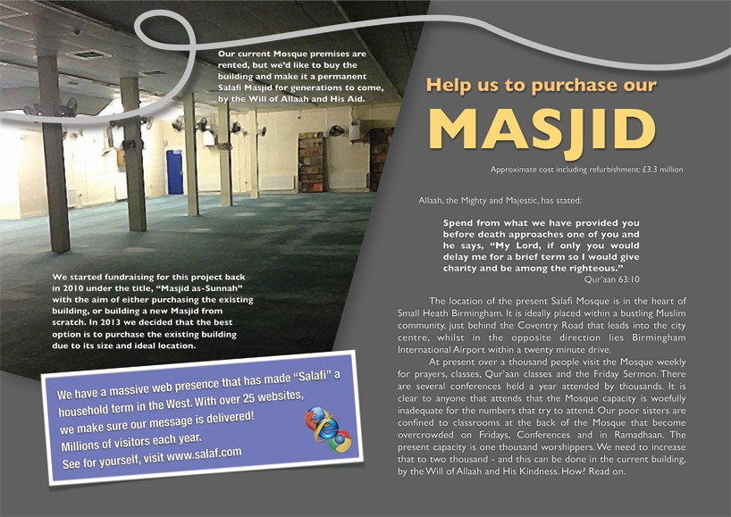 Help us to purchase our MASJID